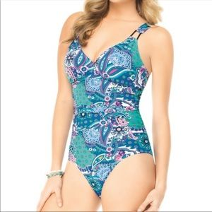 NWOT. Assets by SPANX. Blue Paisley One Piece